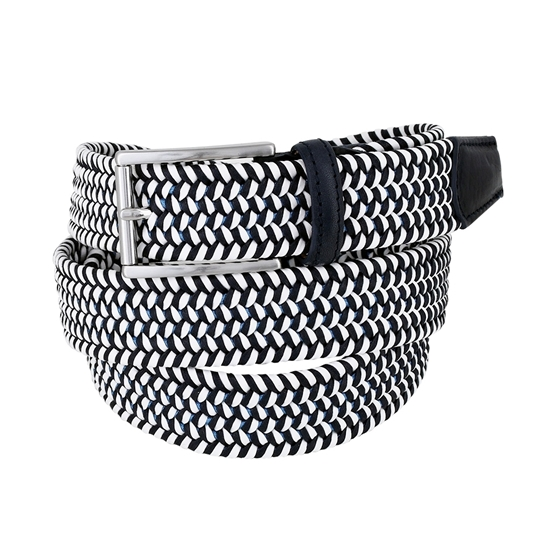 Picture of White & Blue Braided Belt - 3,5 cm. wide